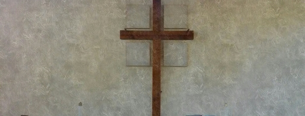 Cross with paint filter